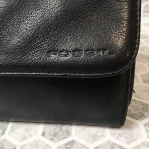 Fossil Bags - FOSSIL vintage black leather crossbody bag